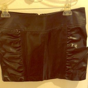 Pleather short sexy skirt NWT